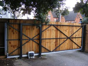 Brookmans Park sliding gate automation